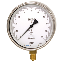 Test gauge, copper alloy or stainless steel