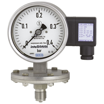 Diaphragm pressure gauge with output signal